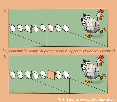 Vanishing egg puzzle