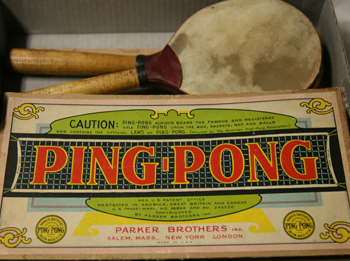 An old ping-pong set