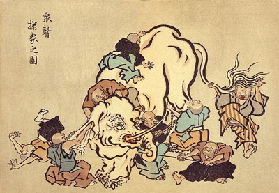 Six blind men and elephant