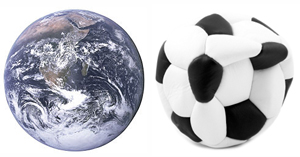 Earth and ball