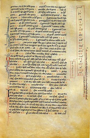 A page of Fibonacci's Liber Abaci from the Biblioteca Nazionale di Firenze showing the Fibonacci sequence