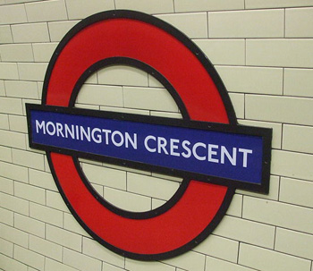 Mornington Crescent Tube Station Sign