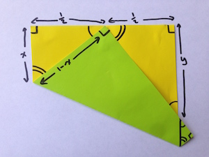 Finding the length of the sides of the top-right triangle