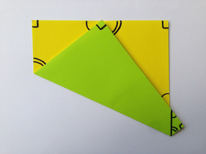 how to make equilateral triangle by paper folding