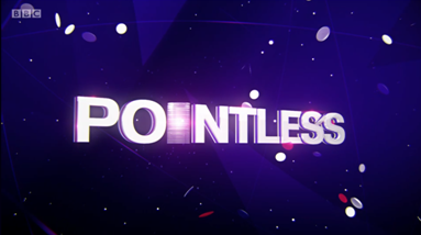 Screenshot of Pointless title sequence