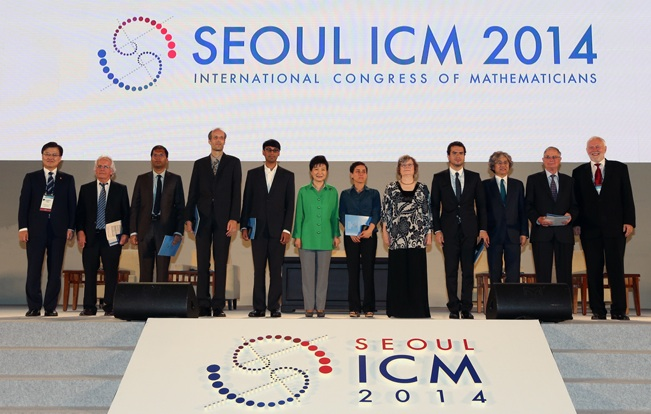 Guests at the opening ceremony of ICM 2014