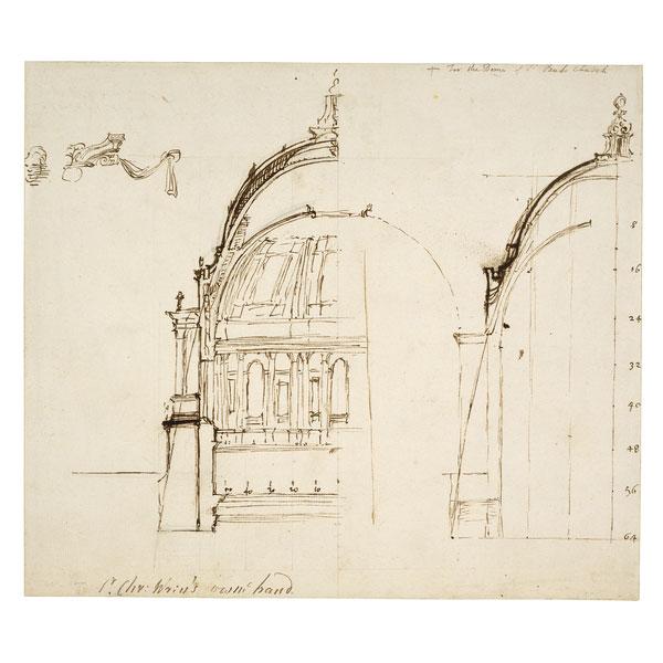 Wren's sketch for St Paul's