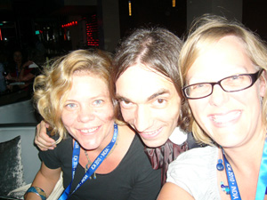 Marianne and Rachel with Cedric Villani