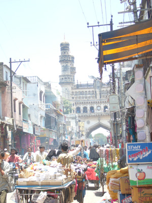 The old town of Hyderabad