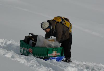 Checking equipment in Innsbruck, Austria, last month