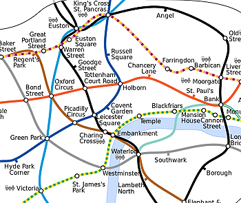 Accurate London Underground map