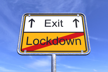 Lockdown exit sign