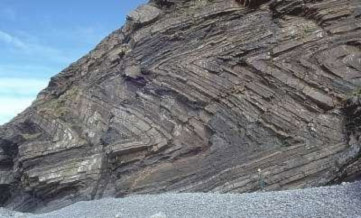 Folded rocks in Millook Haven, Cornwall