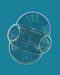 A nonstandard double bubble