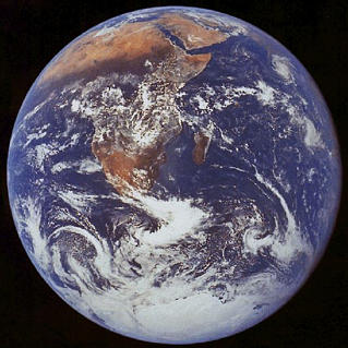 The earth from Apollo 17