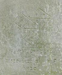 The diagram on the south side of Perigal's tomb.