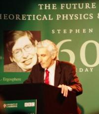 [IMAGE: Sir Martin Rees delivering his lecture]