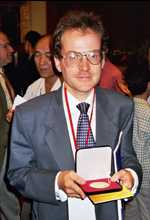 Laurent Lafforgue after the ceremony