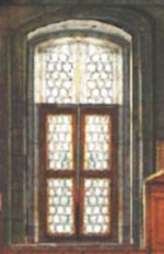 IMAGE: a rectified, front-on view of window