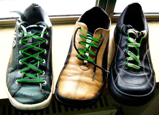 Different types of lacing