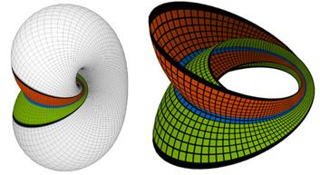 Möbius bands on the Lawson-Klein bottle