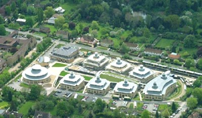 The Centre for Mathematical Sciences seen from the air