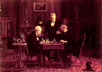 """The Chess Players"", by Thomas Eakins"