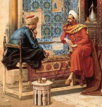 The Chess Game, by Ludwig Deutsch