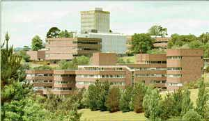 The Physics building tower at Exeter University