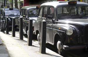 row of London cabs