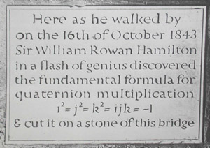 Plaque to Hamilton at Broome Bridge