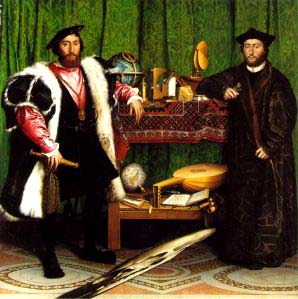 The Ambassadors (1533), Holbein