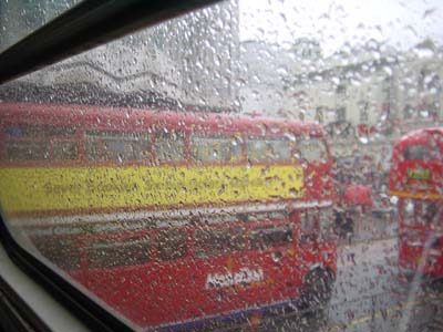 Image: a rainy day in london