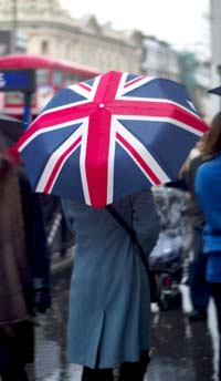 Image: british flag umbrella