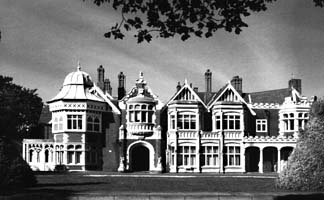 Bletchley Park, a country manor converted into the headquarters of British code-breaking during the war