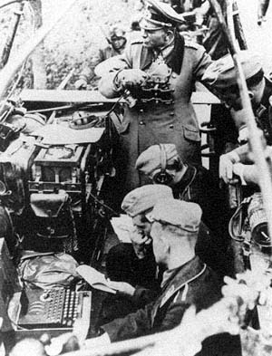 German soldiers using an Enigma machine during the second world war