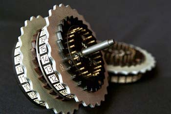 An Enigma machine rotor. Copyright Simon Singh