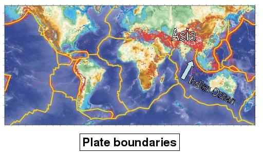 Map of plate boundaries.
