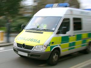 passing ambulance