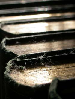 dusty old ledgers