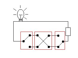 3 switches to a bulb
