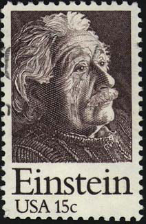 Einstein on US stamp