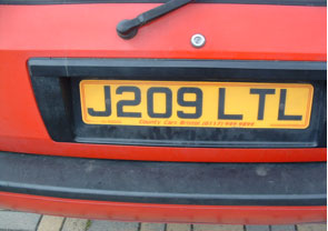 Simulated original number plate