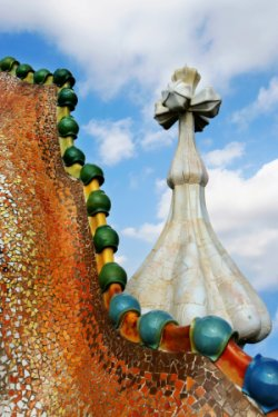 Detail of Gaudí's Casa Battló