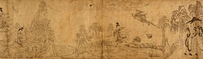 Detail of a Chinese drawing