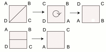 reflections and rotations of a square