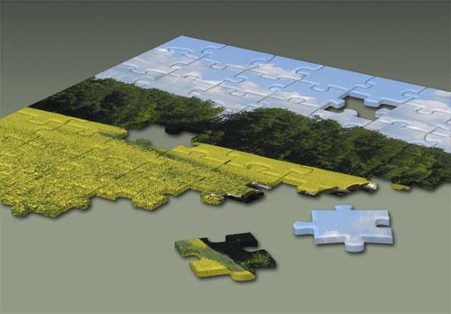 Broken puzzle