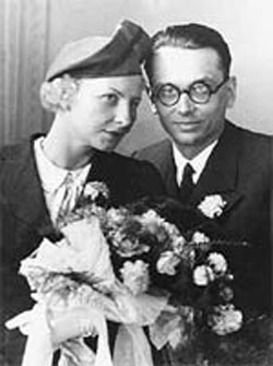 Kurt Gödel and his wife