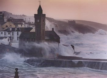 High-tide in Cornwall.