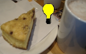 A cake with a light bulb drawn on it